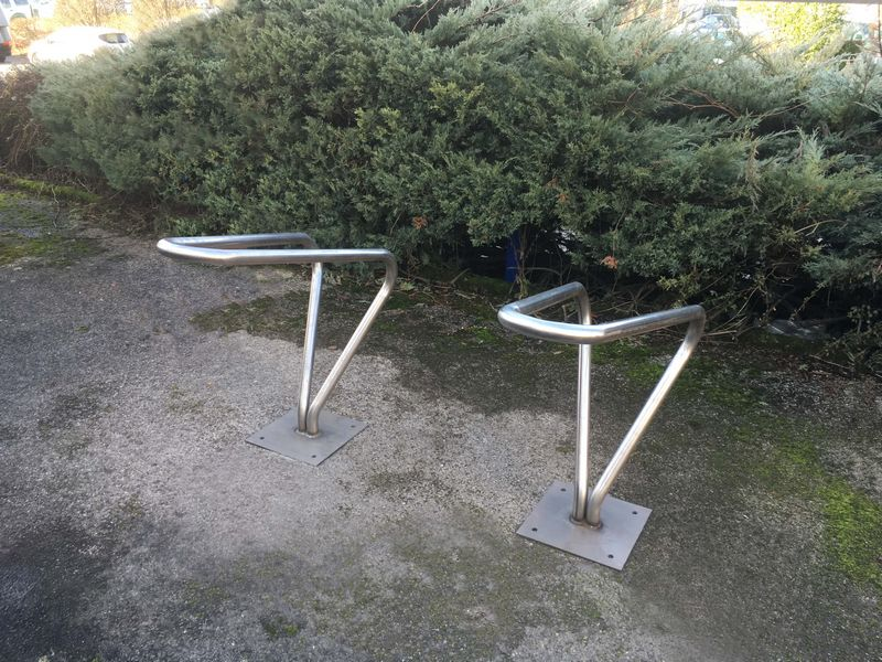 support vélo, platine de scellement